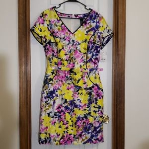NWT Doncaster Collection 100% silk flower dress